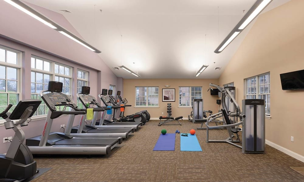Sherry Lake Apartment Homes offers a fitness center in Conshohocken, Pennsylvania