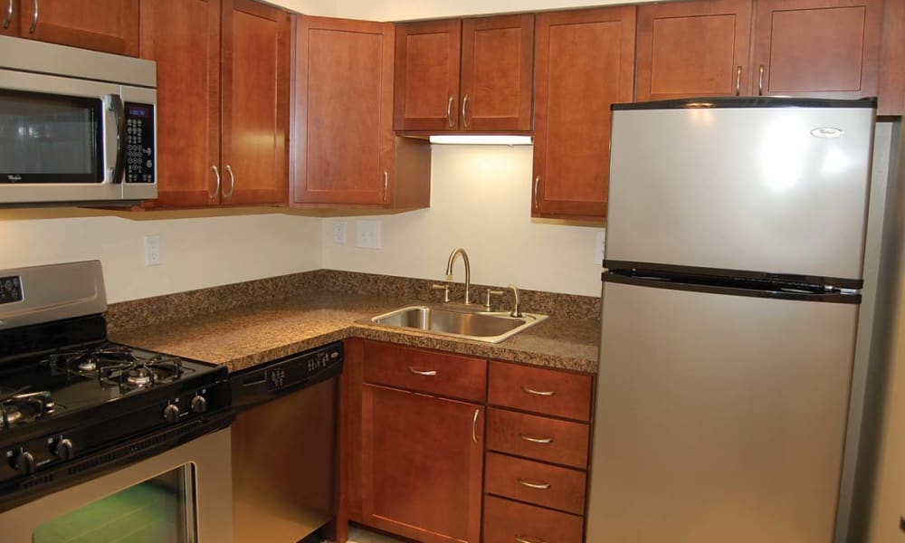 Fully equipped kitchen at Sherry Lake Apartment Homes in Conshohocken, Pennsylvania