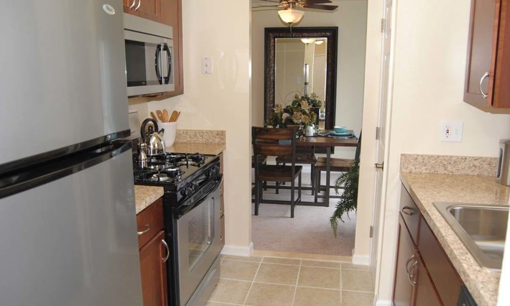 Spacious kitchen at Sherry Lake Apartment Homes in Conshohocken, Pennsylvania