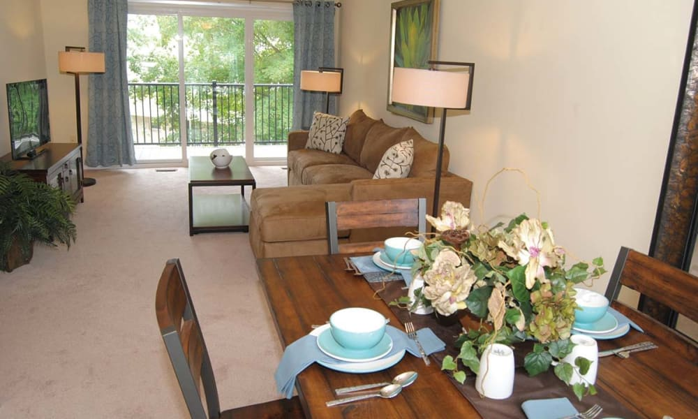 Spacious living area at Sherry Lake Apartment Homes in Conshohocken, Pennsylvania
