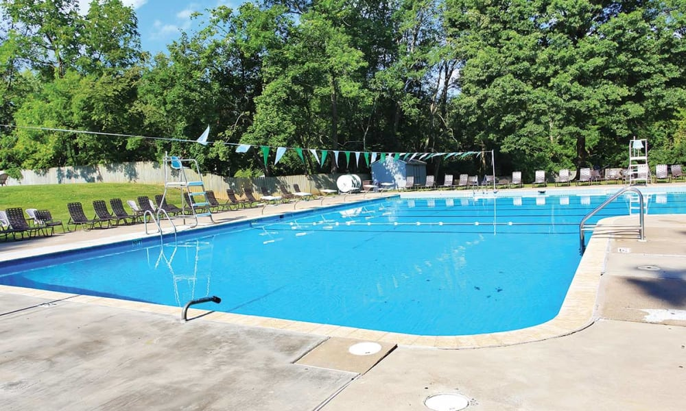 Waterview Apartments offers a swimming pool in West Chester, Pennsylvania