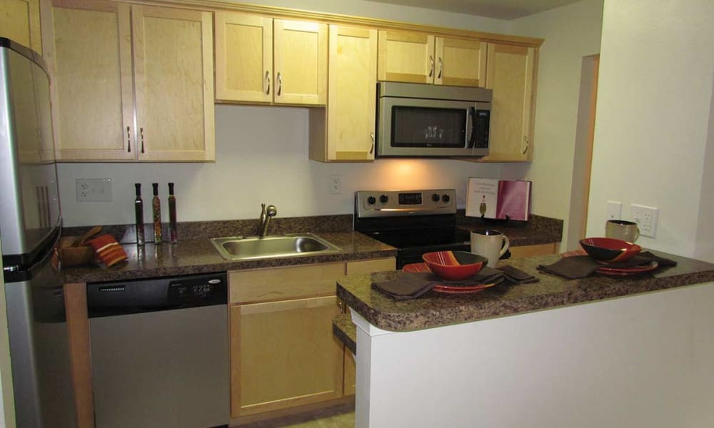 Waterview Apartments offers spacious kitchens in West Chester, Pennsylvania