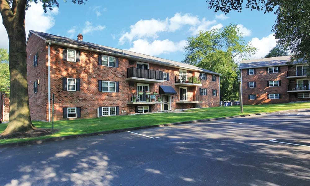 Exterior of Waterview Apartments in West Chester, Pennsylvania