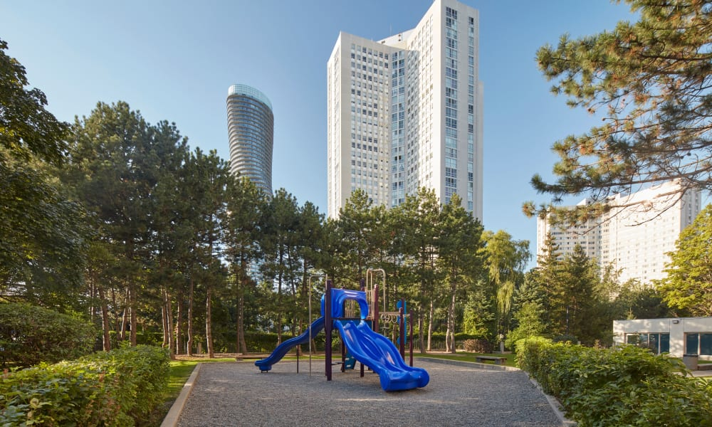 Playground at Mississauga Place in Mississauga, Ontario