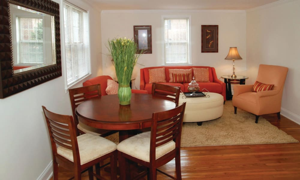 Dining room at The Villas at Bryn Mawr Apartment Homes in Bryn Mawr, Pennsylvania