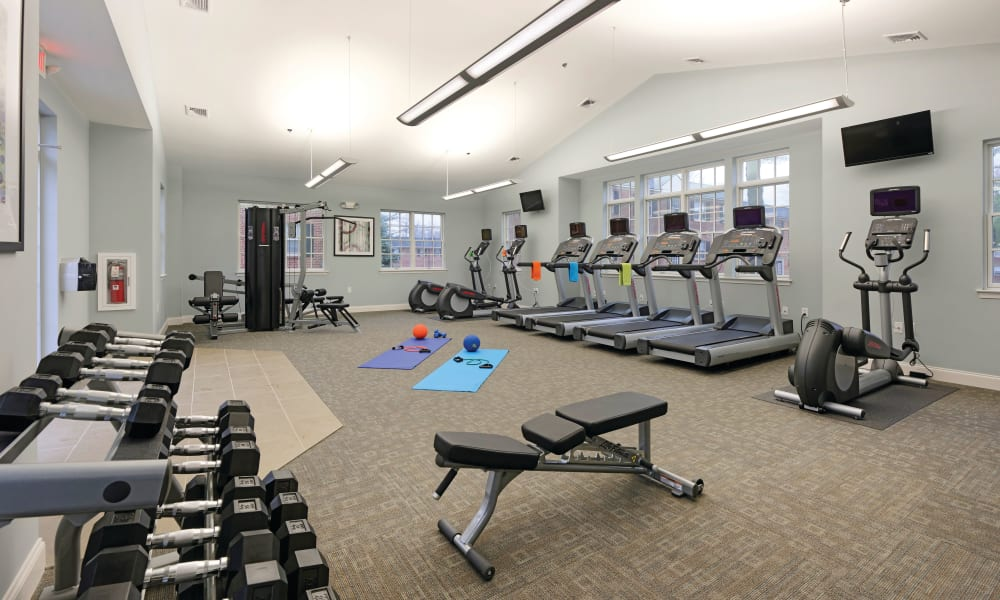 Fitness center for residents at The Villas at Bryn Mawr Apartment Homes in Bryn Mawr, Pennsylvania