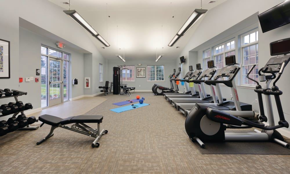 The Villas at Bryn Mawr Apartment Homes offers a fitness center in Bryn Mawr, Pennsylvania