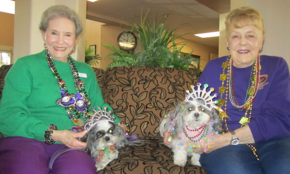 Mardi Gras Party at Bella Vista Gracious Retirement Living in Asheville, North Carolina