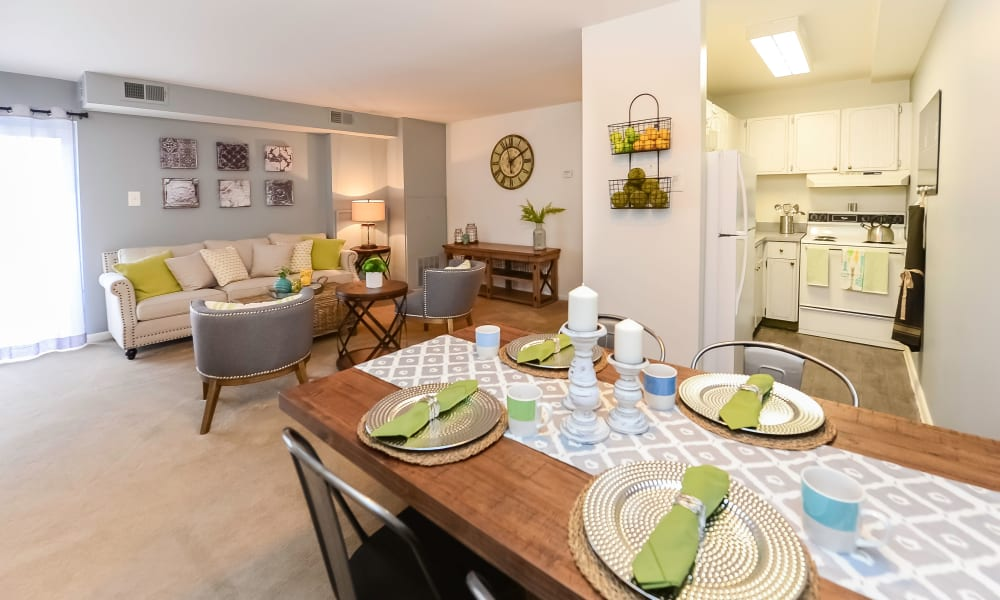 Living & Dining Room at Main Street Apartment Homes in Lansdale, Pennsylvania
