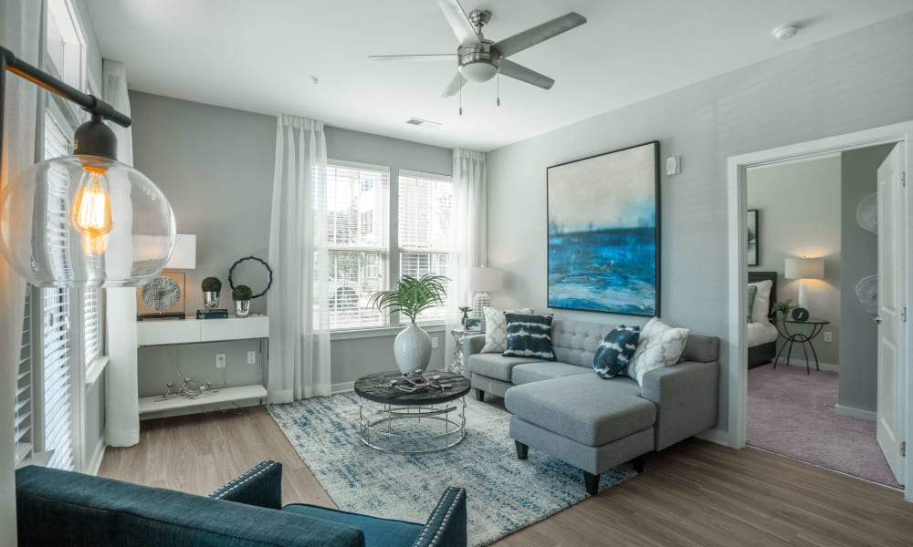 Living room at at Alta Brighton Park in Summerville, ((location_state}}
