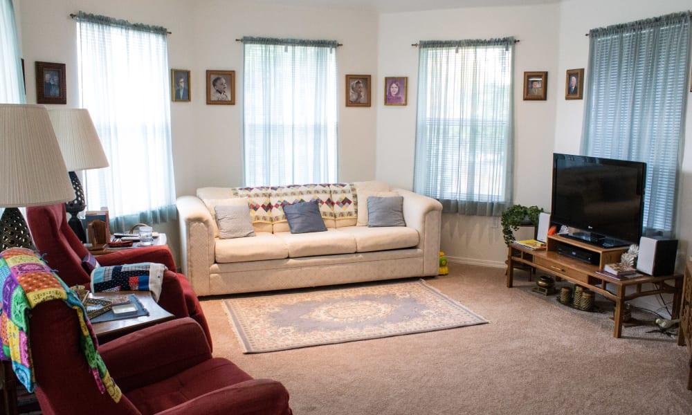 Living space at Evergreen Senior Living in Eugene, Oregon