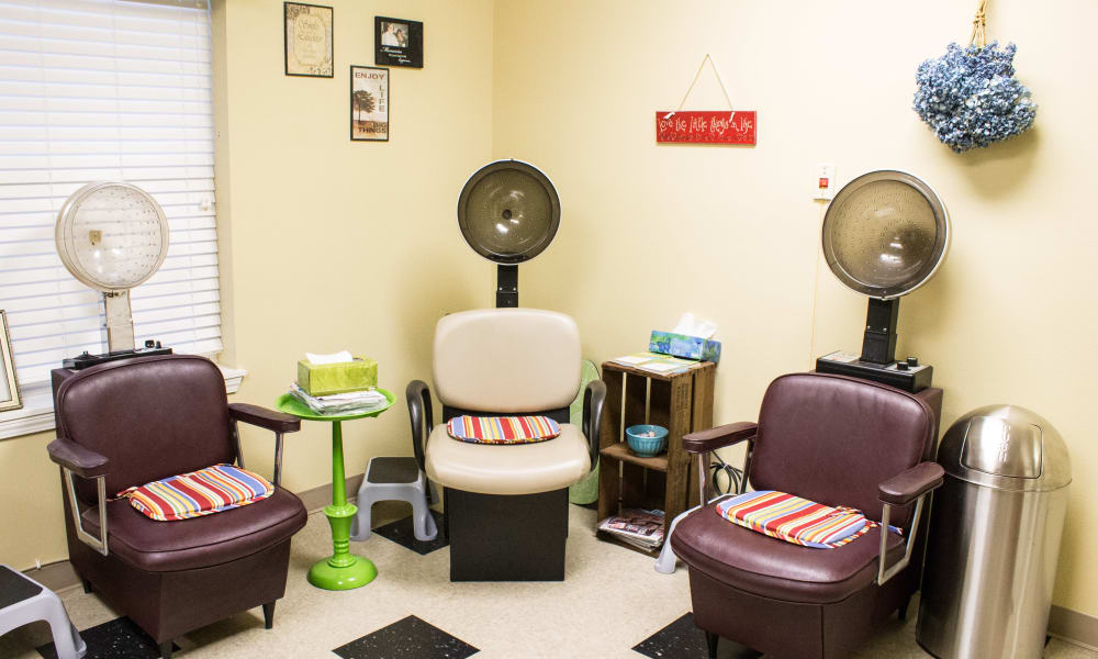 On-site salon at Woodside Senior Living in Springfield, Oregon