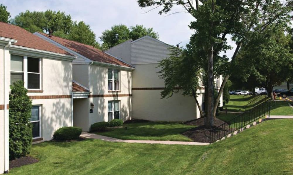 Beautiful, lush lawns at Willowbrook Apartments in Jeffersonville, Pennsylvania