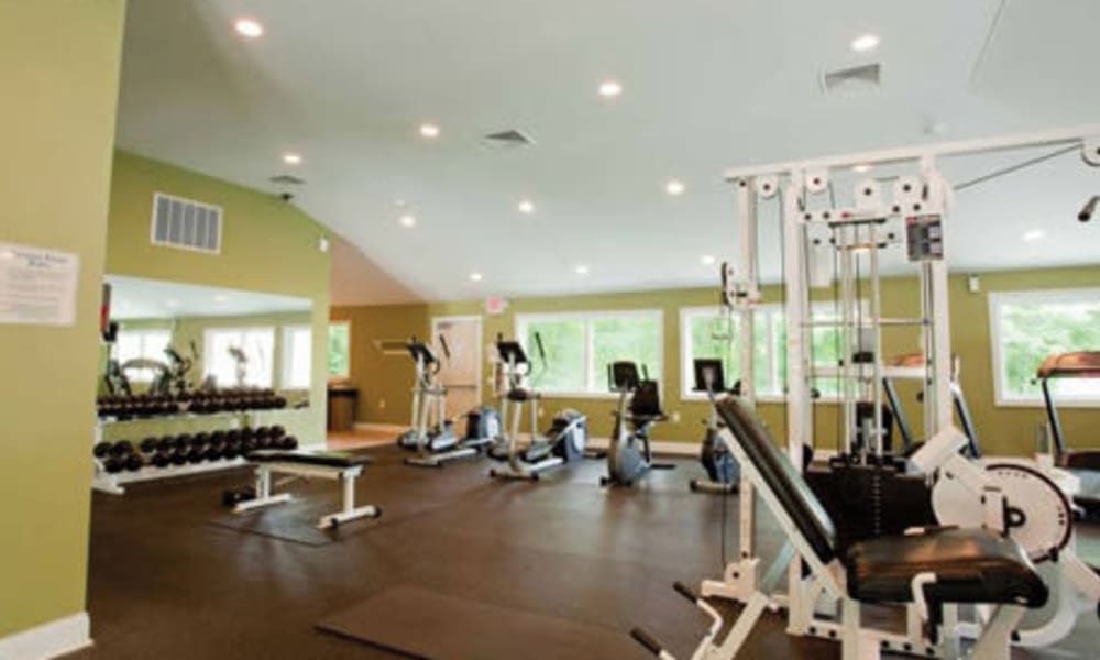 Fitness center for residents at Willowbrook Apartments in Jeffersonville, Pennsylvania