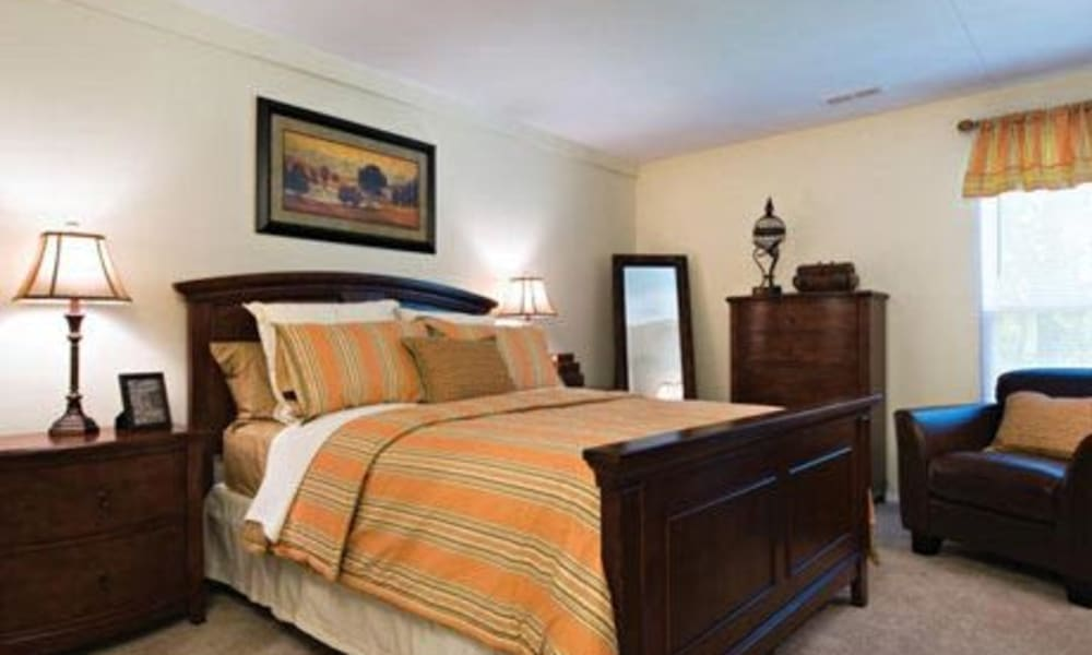 Spacious bedroom at Willowbrook Apartments in Jeffersonville, Pennsylvania