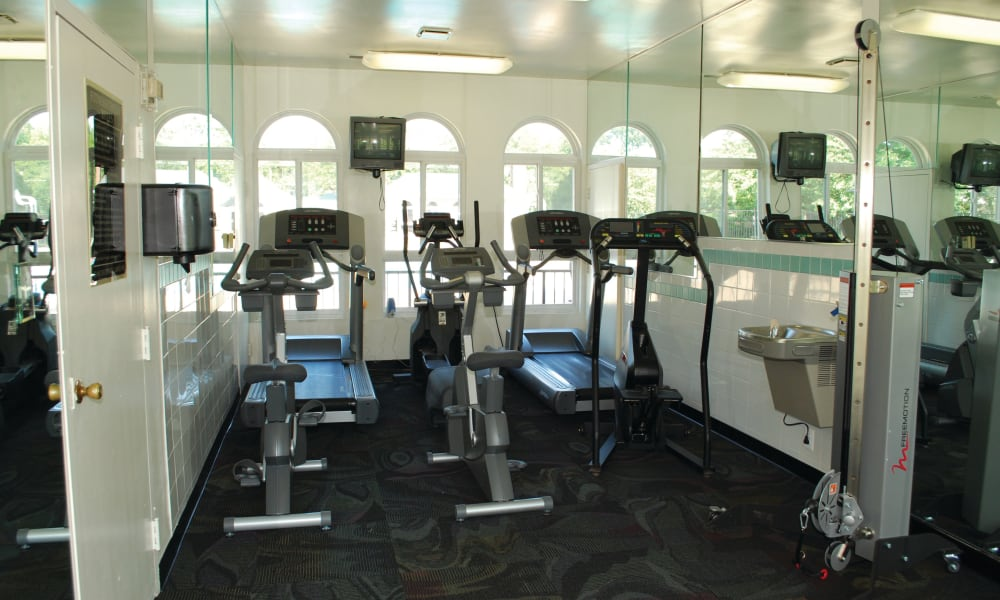 Fitness center for residents at East Meadow Apartments in Fairfax, Virginia
