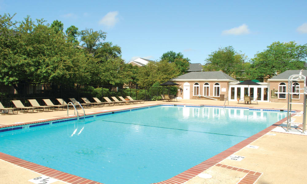 Swimming pool at East Meadow Apartments in Fairfax, Virginia