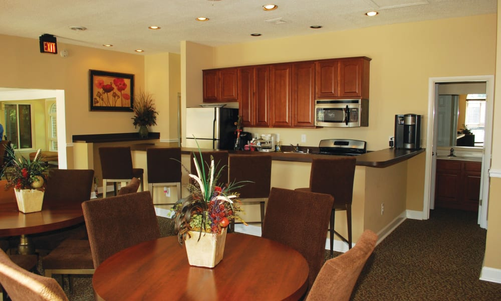 Dining room table at East Meadow Apartments in Fairfax, Virginia