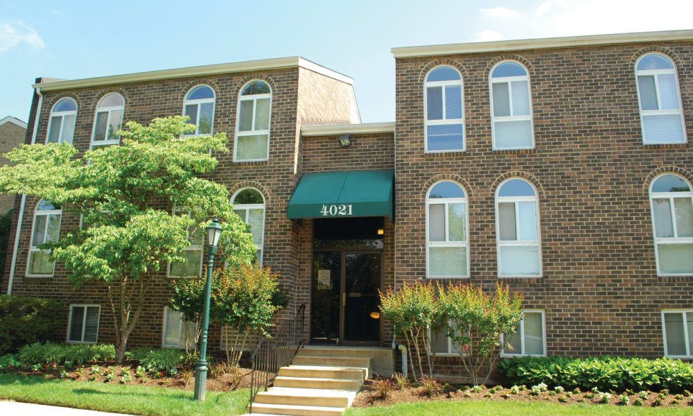 Exterior of East Meadow Apartments in Fairfax, Virginia