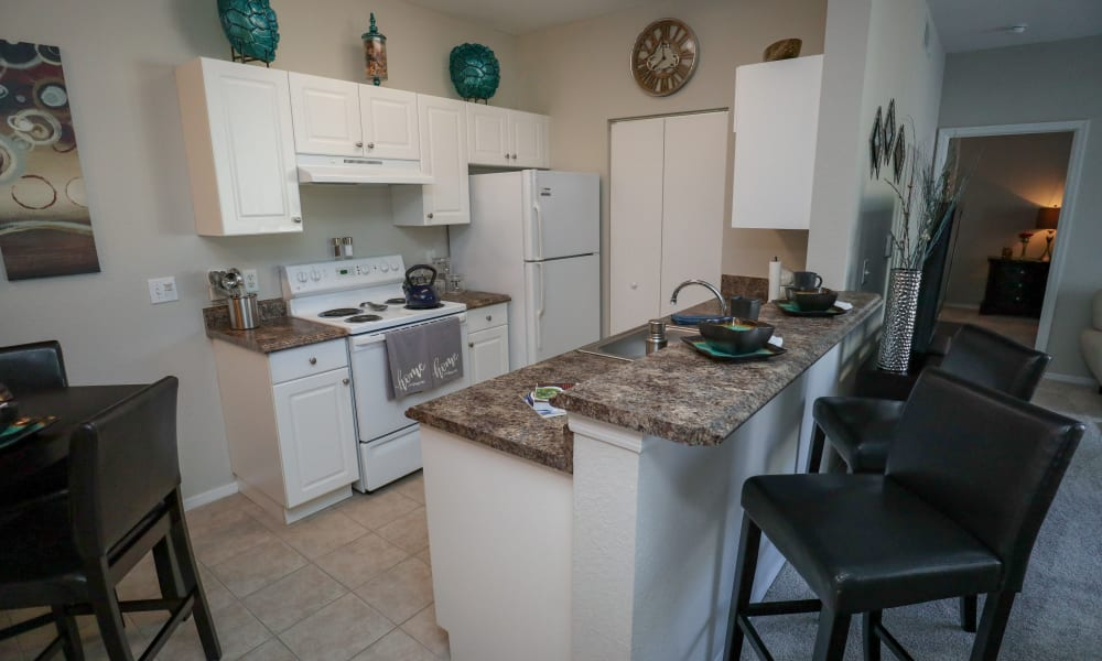 Open kitchens at Palms at Wyndtree