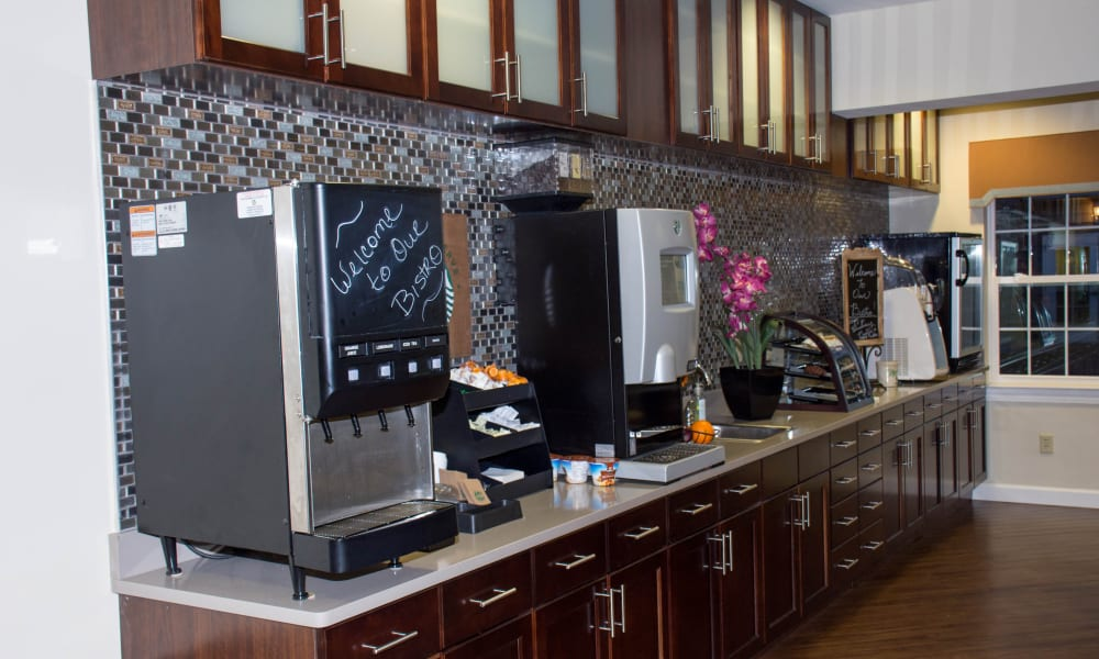 The bistro at Heritage Green Assisted Living in Mechanicsville, Virginia