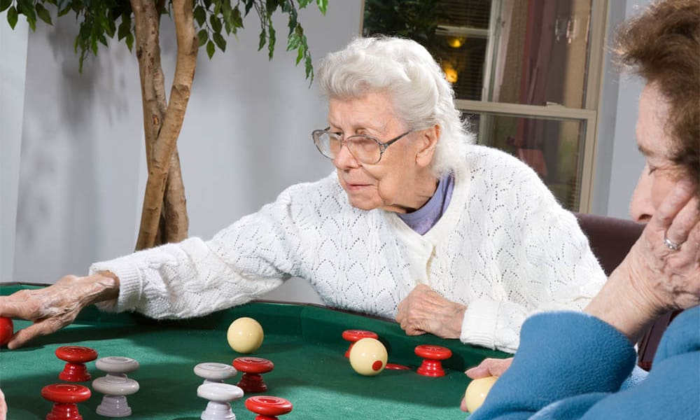 Residents playing games at The Manor at Market Square in Reading, Pennsylvania