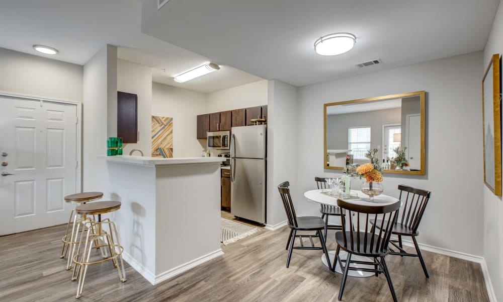 Kitchen & Dining Area at Arya Grove in Universal City, Texas
