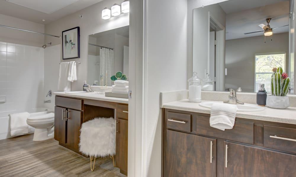 Bathroom at Arya Grove in Universal City, Texas
