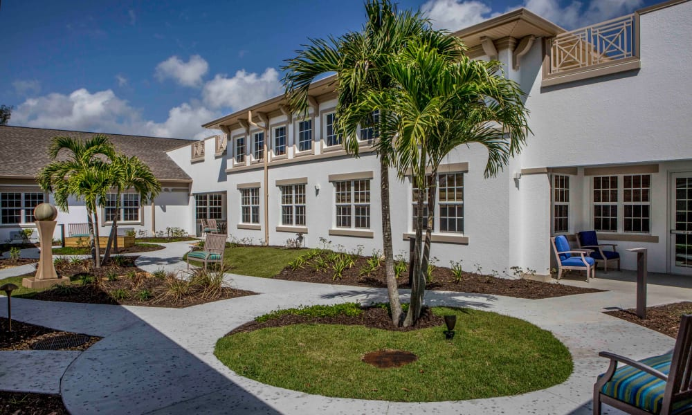 Courtyard at Beach House Assisted Living & Memory Care Naples in Naples, Florida