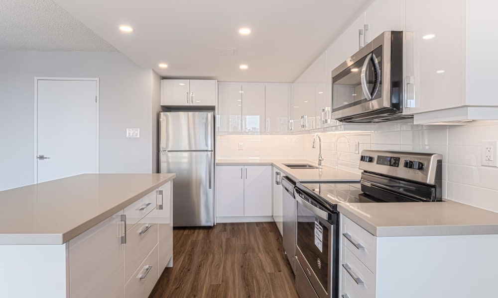 Kitchen at Apartments in Mississauga, Ontario