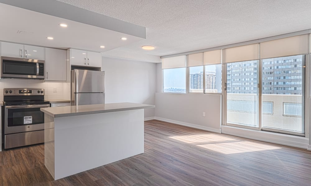 Kitchen & Dining Area at Apartments in Mississauga, Ontario