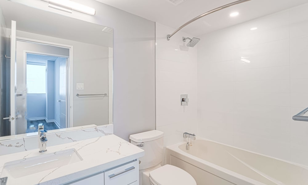 Bathroom at 8 Silver Maple Court in Brampton, Ontario