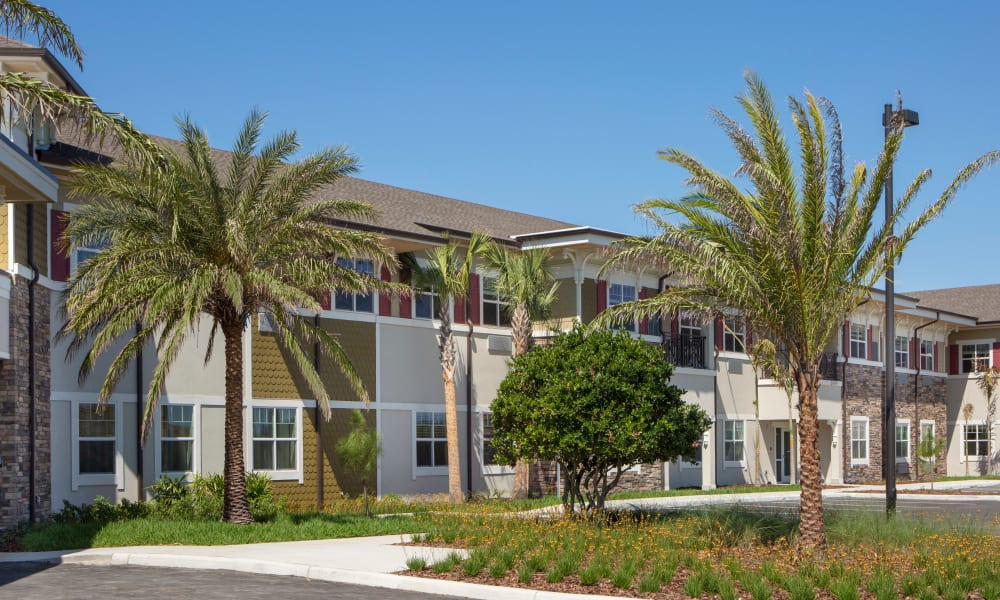 Exterior view of Beach House Assisted Living & Memory Care at Wiregrass Ranch in Wesley Chapel, Florida
