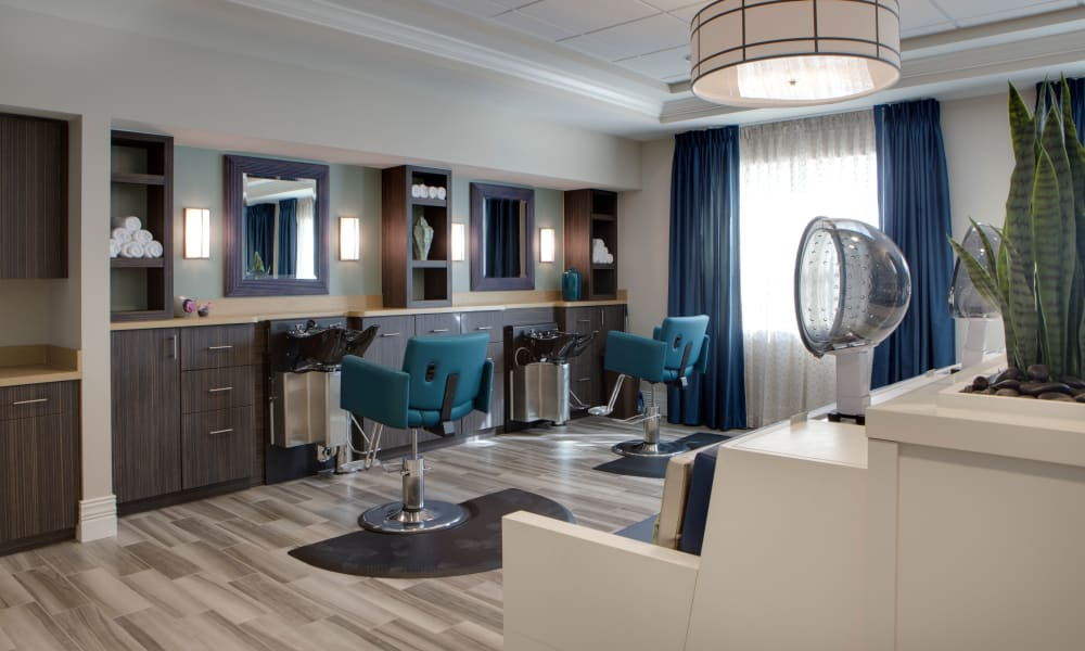 Community spa at Beach House Assisted Living & Memory Care at Wiregrass Ranch in Wesley Chapel, Florida