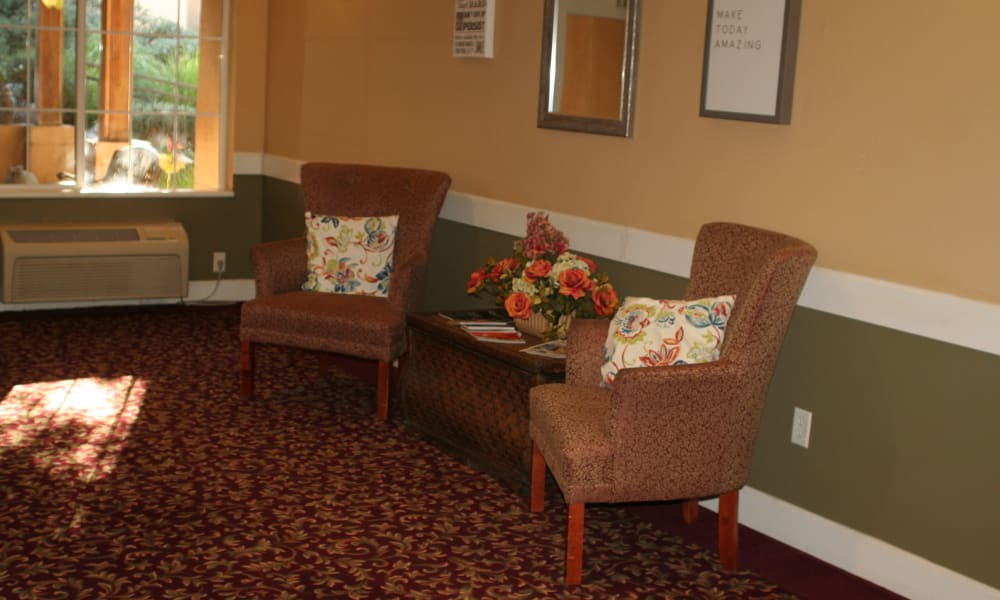 Furniture models at Wildwood Canyon Villa Assisted Living and Memory Care in Yucaipa, California