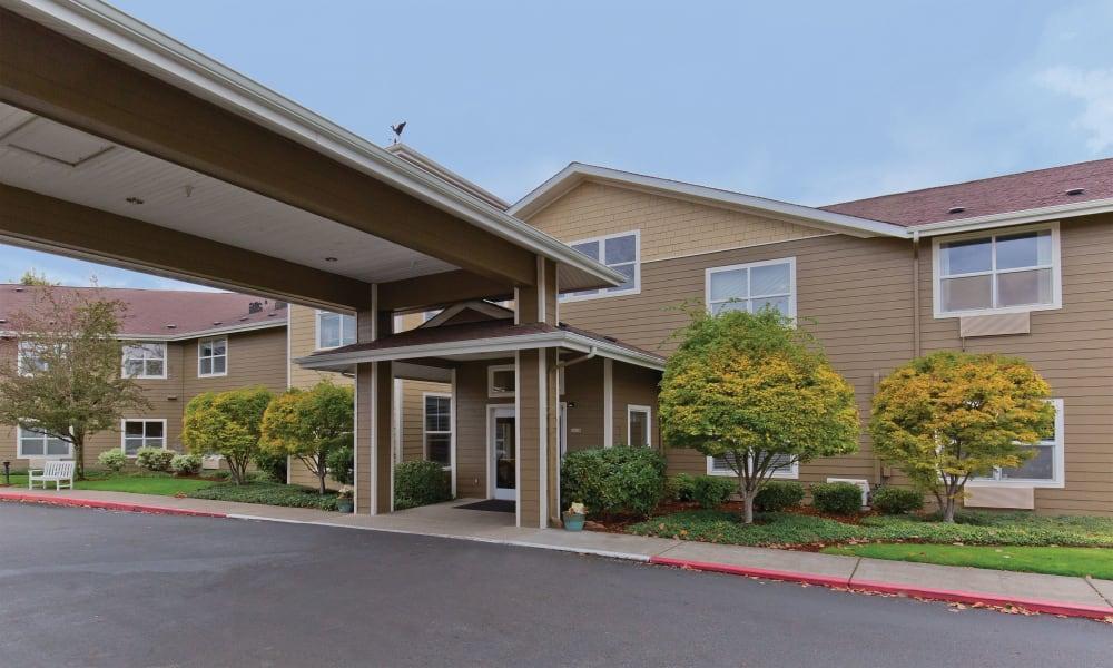 Entrance to Heron Pointe Senior Living in Monmouth, Oregon