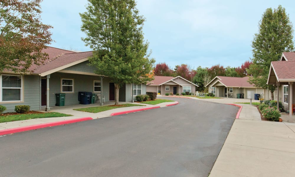 View of Heron Pointe Senior Living's community in Monmouth, Oregon