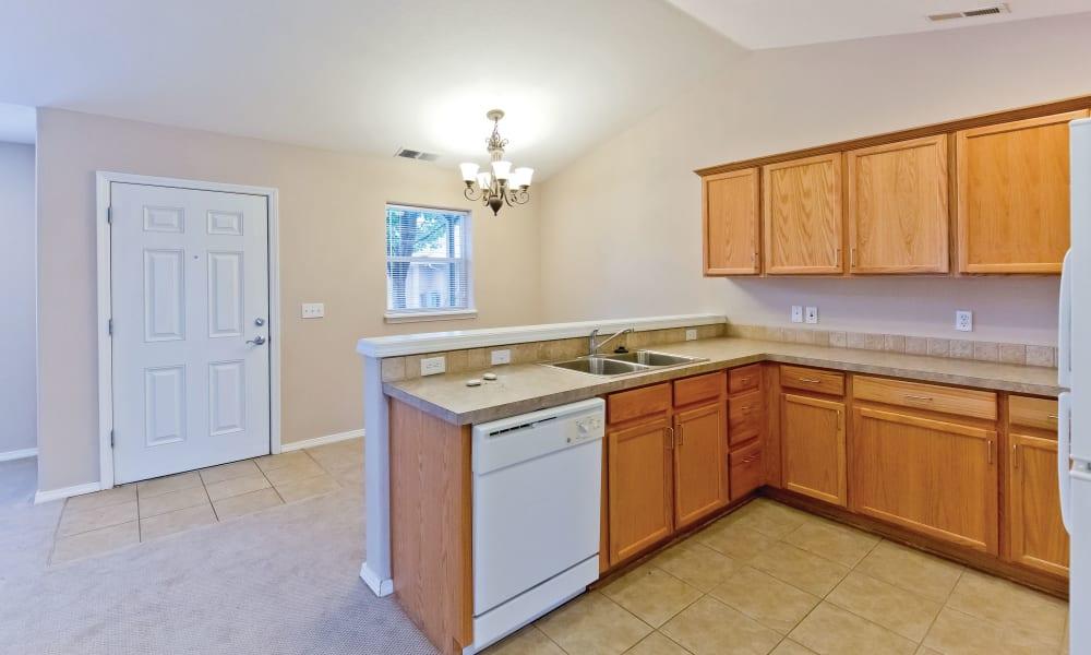 Model kitchen at Heron Pointe Senior Living in Monmouth, Oregon