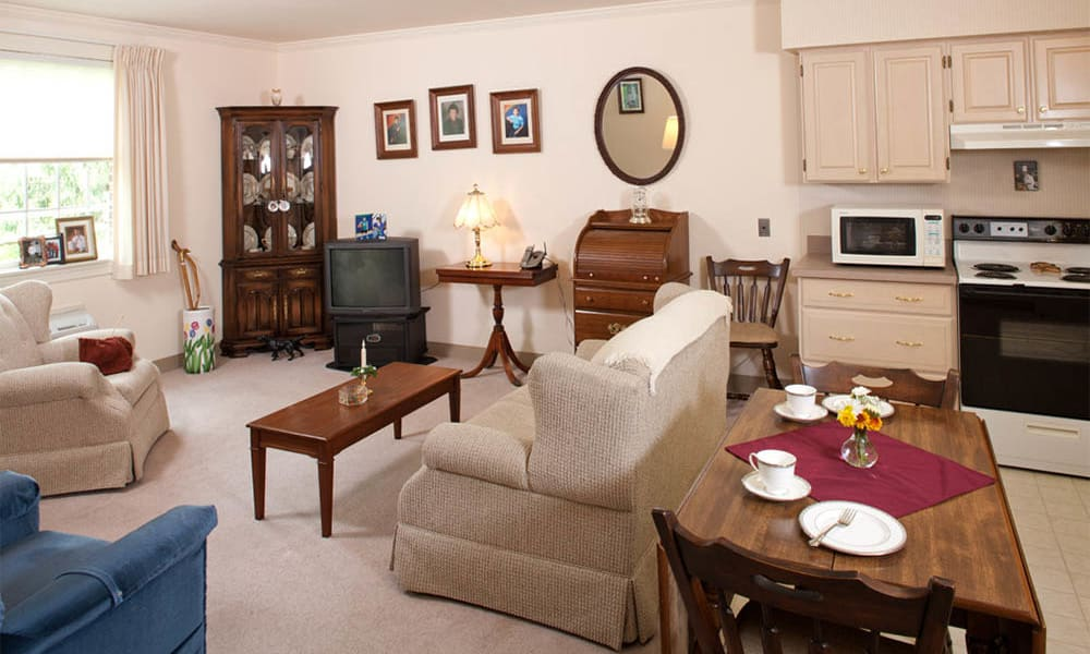 living space at Senior Commons at Powder Mill in York, Pennsylvania