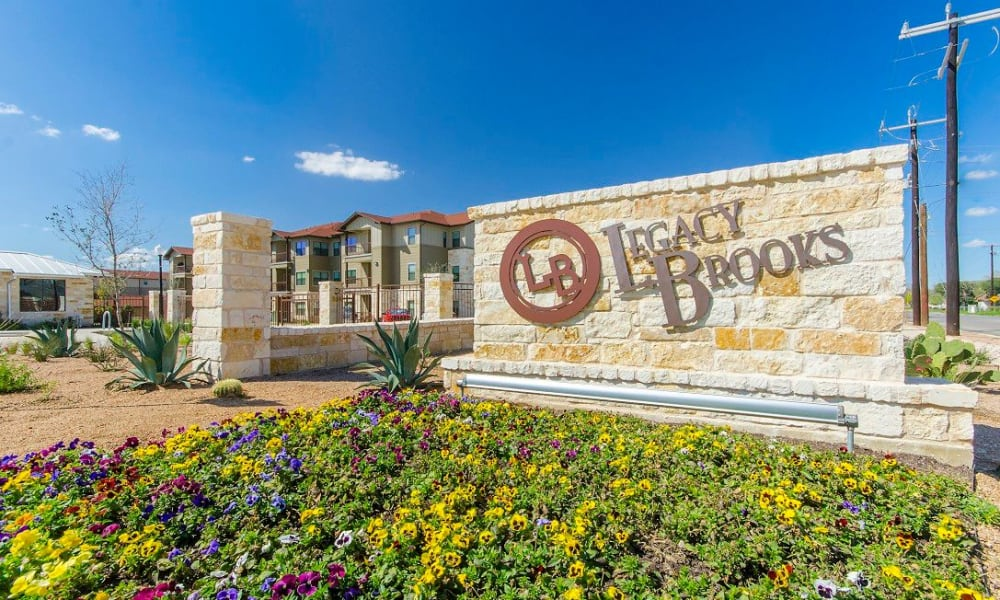 Beautiful view of our apartments at Legacy Brooks in San Antonio, Texas