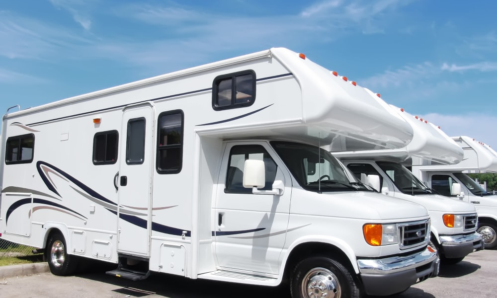 RV parking at Seville RV & Boat Storage in Queen Creek, Arizona