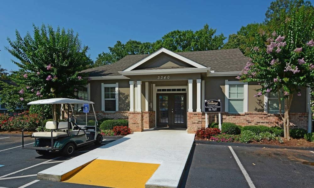 Front entrance at The Crossing at Henderson Mill in Atlanta, Georgia