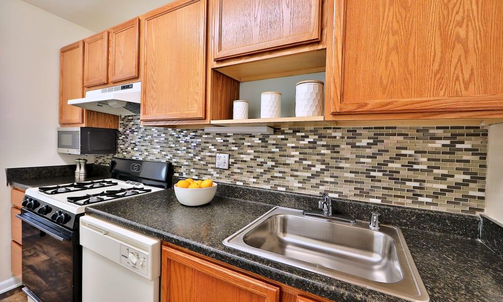 Kitchen at Cedar Creek Apartment Homes in Glen Burnie, MD