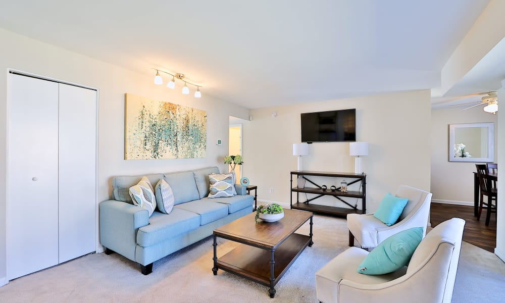 Living Room at Cedar Creek Apartment Homes in Glen Burnie, MD
