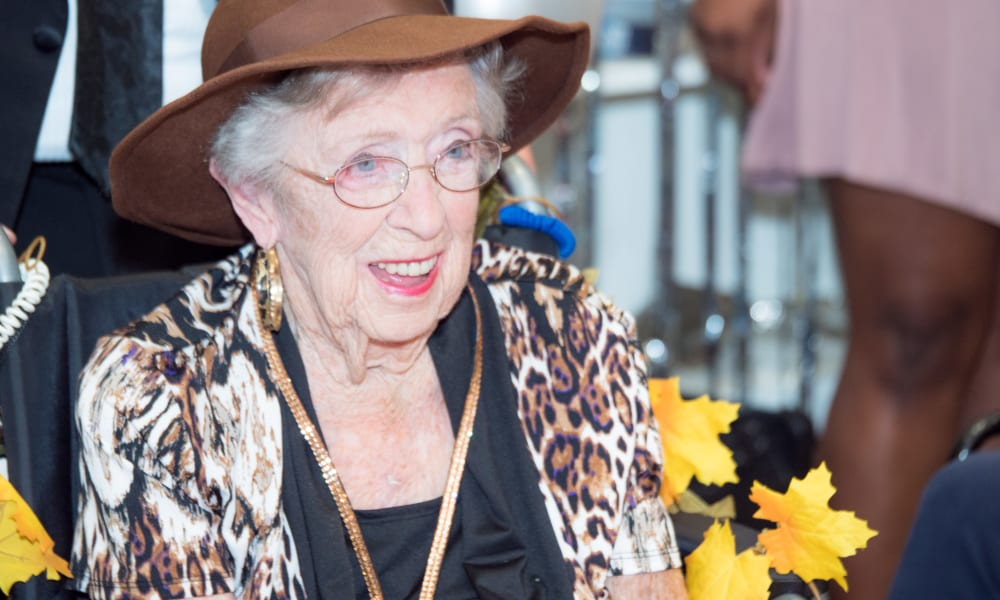Lovely senior lady at Beach House Assisted Living & Memory Care Naples in Naples, Florida
