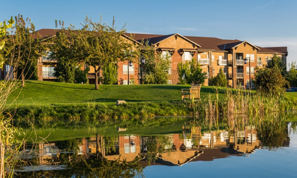 Main building exterior at Touchmark at Meadow Lake Village in Meridian, Idaho