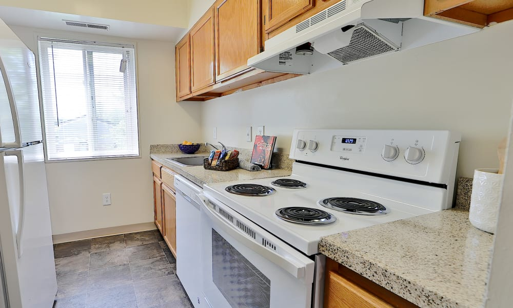 Kitchen at Villages at Montpelier Apartment Homes in Laurel, Maryland
