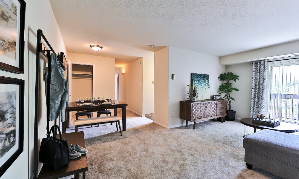 Living Room at Villages at Montpelier Apartment Homes in Laurel, Maryland