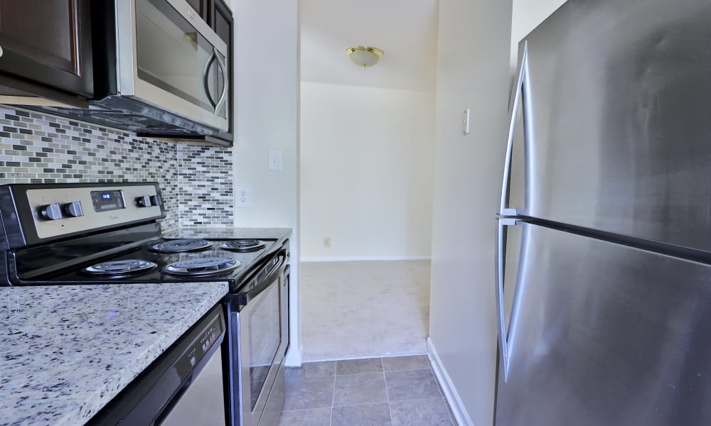 Kitchen at Apartments in Laurel, Maryland