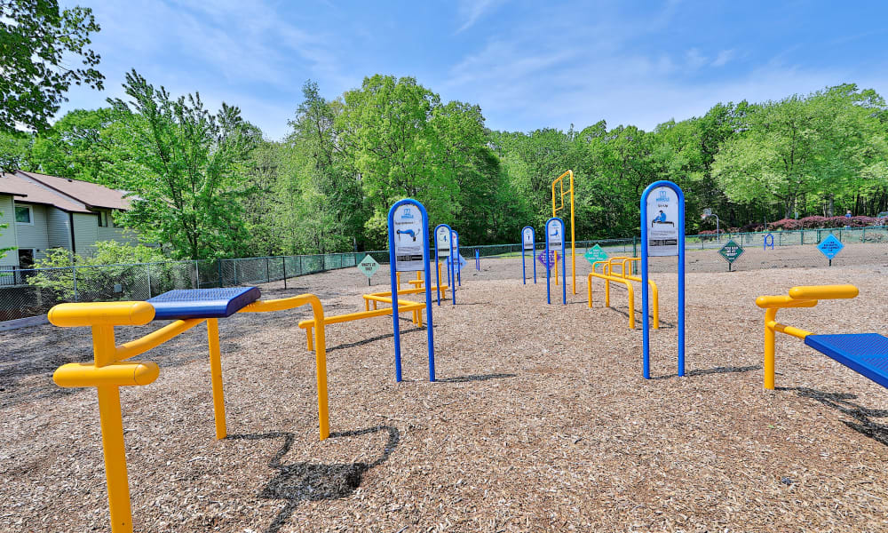 Outdoor Fitness Center at Villages at Montpelier Apartment Homes in Laurel, Maryland